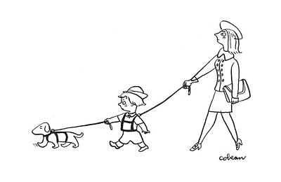 New Yorker July 8th, 1944 Art Print by Sam Cobean
