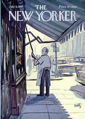 Food Painting - New Yorker July 8th, 1967 by Arthur Getz