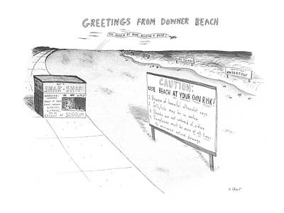 Snack Drawing - New Yorker July 8th, 1985 by Roz Chast