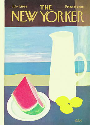 Pitcher Painting - New Yorker July 9th, 1966 by Charles E. Martin