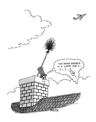 Chimney Drawing - New Yorker July 9th, 1979 by Jack Ziegler