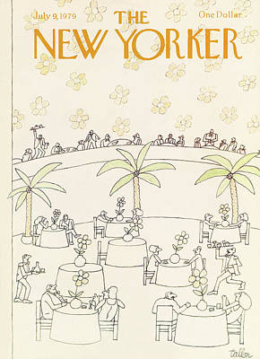 Food And Drink Painting - New Yorker July 9th, 1979 by Robert Tallon
