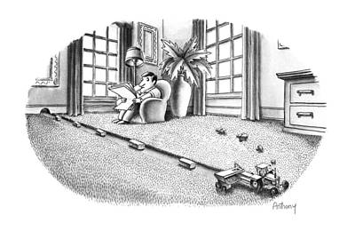 Tractor Drawing - New Yorker July 9th, 1990 by Anthony Taber