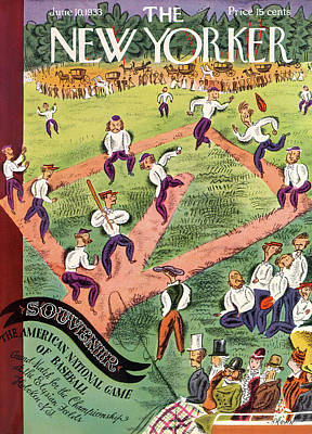 Baseball Painting - New Yorker June 10th, 1933 by Harry Brown