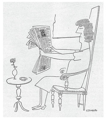 New Yorker June 10th, 1950 Art Print by Saul Steinberg