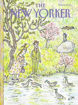 In The Distance Painting - New Yorker June 10th, 1985 by William Steig