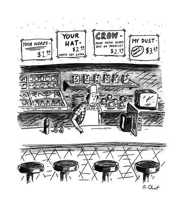 Crows Drawing - New Yorker June 10th, 1991 by Roz Chast