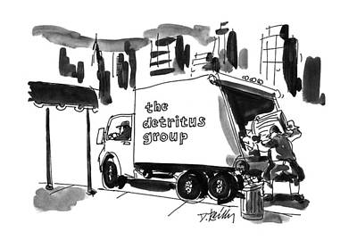 Truck Drawing - New Yorker June 10th, 1996 by Donald Reilly