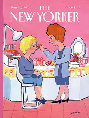 Make-up Painting - New Yorker June 11th, 1990 by Barbara Westman
