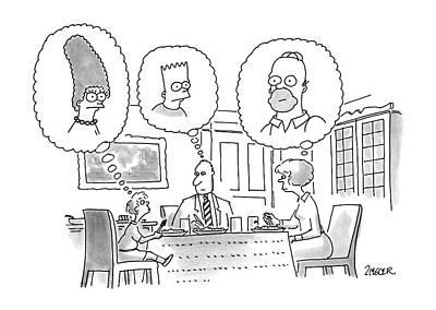 Cartoon Drawing - New Yorker June 11th, 1990 by Jack Ziegler