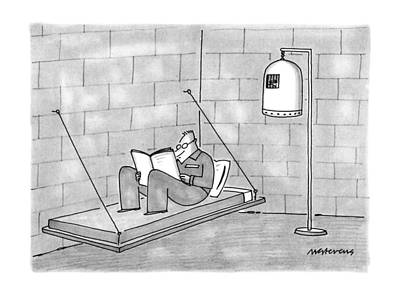 Bunk Drawing - New Yorker June 11th, 1990 by Mick Stevens