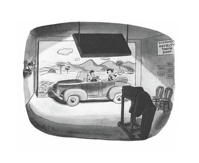 Family Car Drawing - New Yorker June 12th, 1943 by Robert J. Day