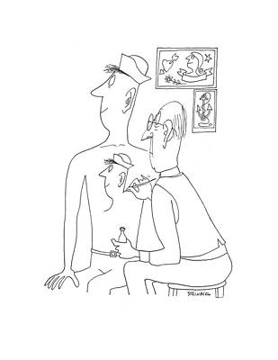 Self-portrait Drawing - New Yorker June 13th, 1942 by Saul Steinberg