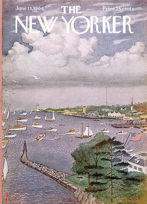 Painting - New Yorker June 13th, 1964 by Albert Hubbell