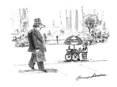 Miniature Drawing - New Yorker June 13th, 1994 by Bernard Schoenbaum