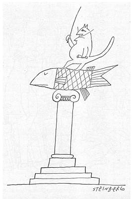 New Yorker June 14th, 1958 Art Print by Saul Steinberg