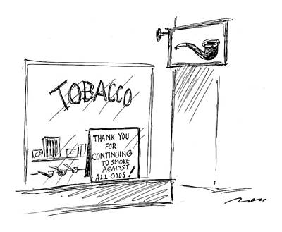 Smokes Drawing - New Yorker June 14th, 1999 by Al Ross