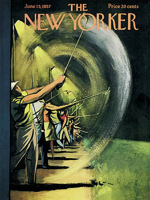 Night Painting - New Yorker June 15th, 1957 by Arthur Getz