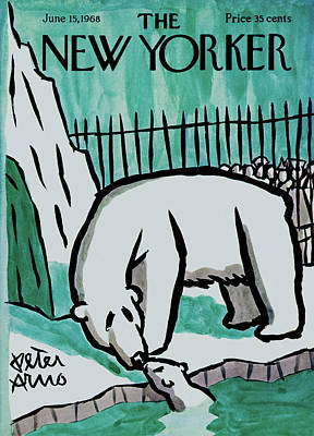 Winter Painting - New Yorker June 15th, 1968 by Peter Arno