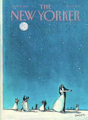 Painting - New Yorker June 15th, 1981 by Charles Saxon