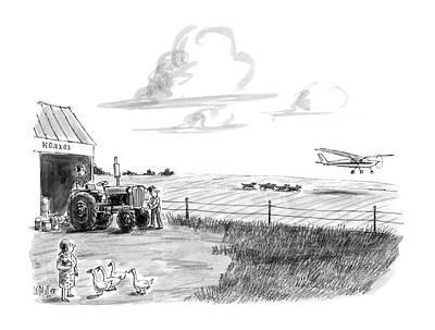 Rural Scenes Drawing - New Yorker June 15th, 1987 by Warren Miller