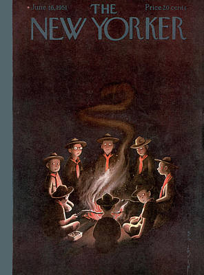 Boy Scouts Painting - New Yorker June 16th, 1951 by Rea Irvin