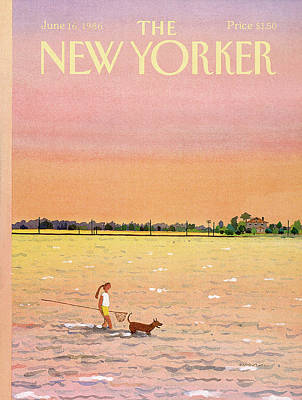 Pooch Painting - New Yorker June 16th, 1986 by Susan Davis