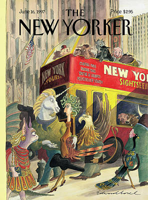 1997 Painting - New Yorker June 16th, 1997 by Edward Sorel