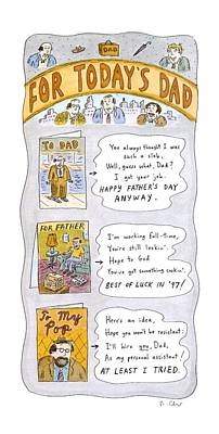 Drawing - New Yorker June 16th, 1997 by Roz Chast