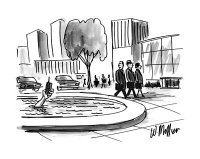 History Drawing - New Yorker June 16th, 1997 by Warren Miller