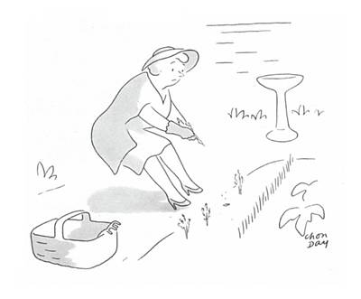 Vegetables Drawing - New Yorker June 17th, 1944 by Chon Day