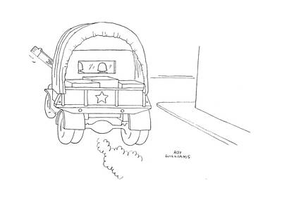 Truck Drawing - New Yorker June 17th, 1944 by Roy Williams