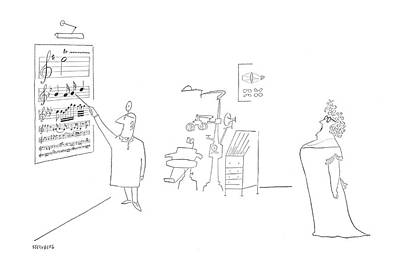 Drawing - New Yorker June 17th, 1950 by Saul Steinberg