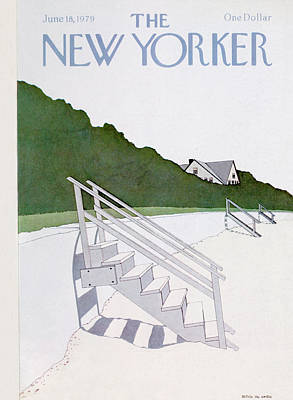 Sandy Beach Painting - New Yorker June 18th, 1979 by Gretchen Dow Simpson