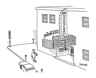 Theater Drawing - New Yorker June 18th, 1990 by Jack Ziegler