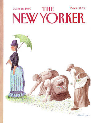Dot Art Painting - New Yorker June 18th, 1990 by J.B. Handelsman