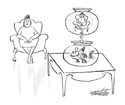 Armchair Drawing - New Yorker June 18th, 1990 by Mischa Richter