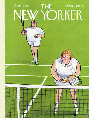 1971 Painting - New Yorker June 19th, 1971 by Charles Saxon