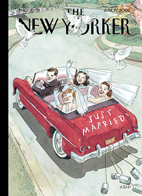 Bride And Groom Painting - New Yorker June 19th, 2006 by Barry Blitt