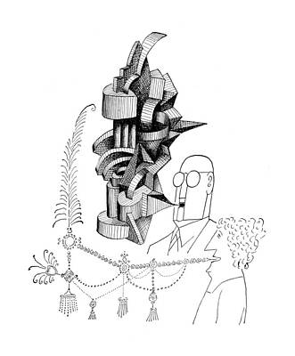 Replacing Drawing - New Yorker June 1st, 1957 by Saul Steinberg