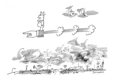 Fanciful Drawing - New Yorker June 1st, 1963 by Saul Steinberg
