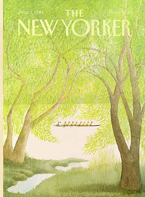 Education Painting - New Yorker June 1st, 1981 by Charles E. Martin