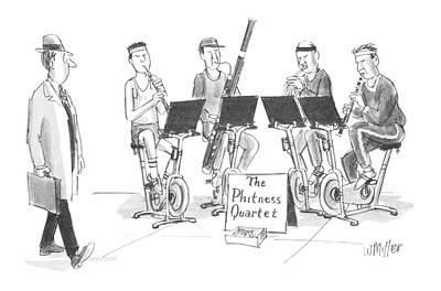 All Sports Drawing - New Yorker June 1st, 1987 by Warren Miller