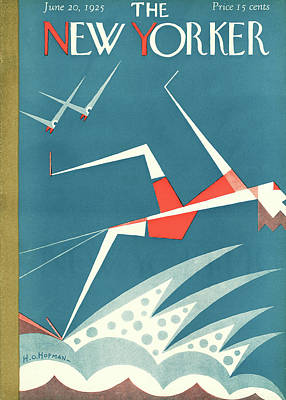 Water Sports Painting - New Yorker June 20th, 1925 by H.O. Hofman
