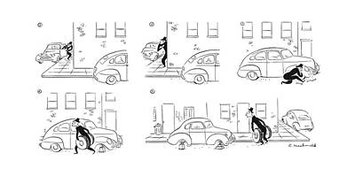 Abandoned Drawing - New Yorker June 20th, 1942 by Roberta Macdonald