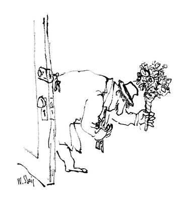 Doorway Drawing - New Yorker June 20th, 1988 by William Steig
