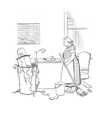Waste Drawing - New Yorker June 21st, 1941 by Carl Rose