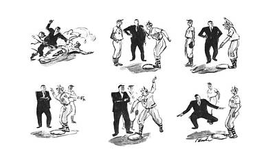 Baseball Player Drawing - New Yorker June 21st, 1941 by Perry Barlow