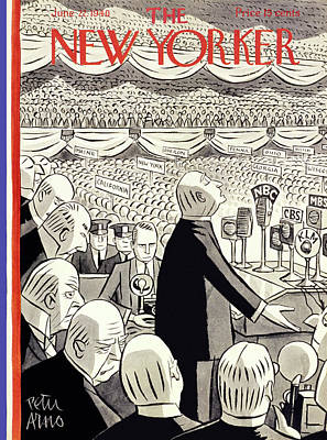 Speech Painting - New Yorker June 22 1940 by Peter Arno