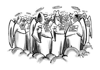 Etc. Drawing - New Yorker June 22nd, 1987 by Lee Lorenz